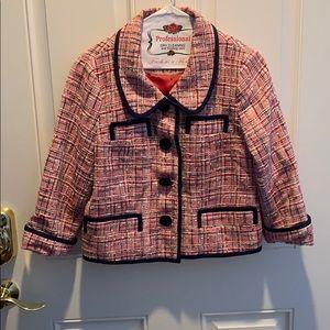 Kate Spade New York designer tweed blazer